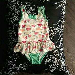 Gymboree 3t lil girl w/watermelons bathing suit